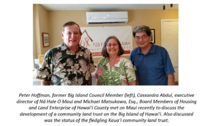 Nā Hale O Maui Mentors Land Trusts on Hawai'i Island and Kaua'i