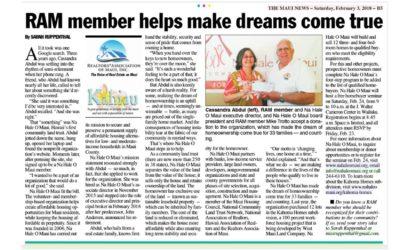RAM member helps make dreams come true