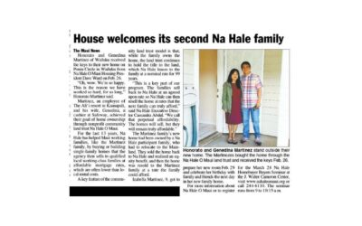 House welcomes its second Nā Hale family